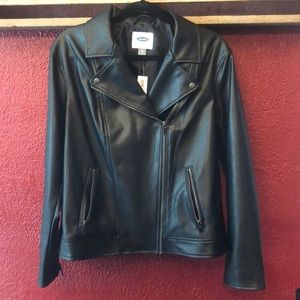 NWT Old Navy Women's Faux Leather Jacket